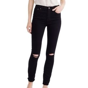 J. Crew Black Look Out High Rise Skinny